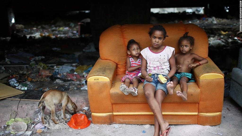 poverty slum children