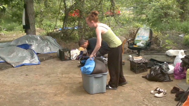 Tent city residents lose their homes
