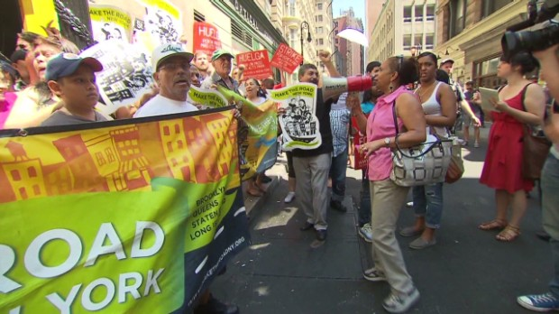 Protester: Double minimum wage!