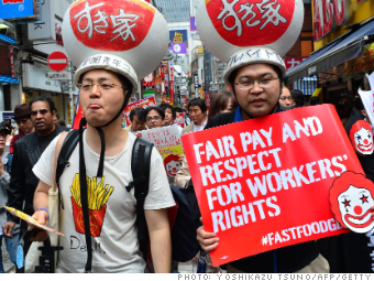 fast food strike japan 051514