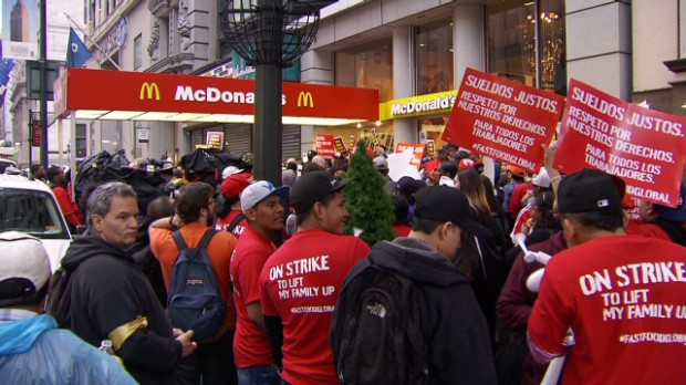 Protesters: Double minimum wage!