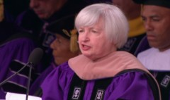 Watch Yellen give speech at Yankee Stadium