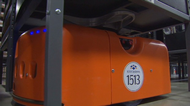 Robot army helps run warehouses
