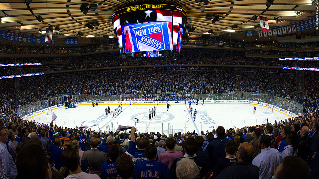 score msg stock up after clippers buy rangers win