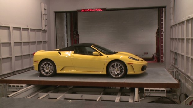 Super rich store Ferraris in robotic vault