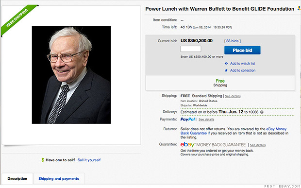 ebay buffett lunch