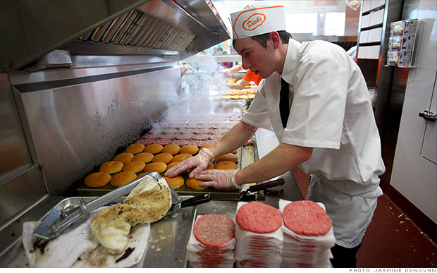 Seattle's minimum wage hike will drive up the price of a burger from Dick's Drive In.