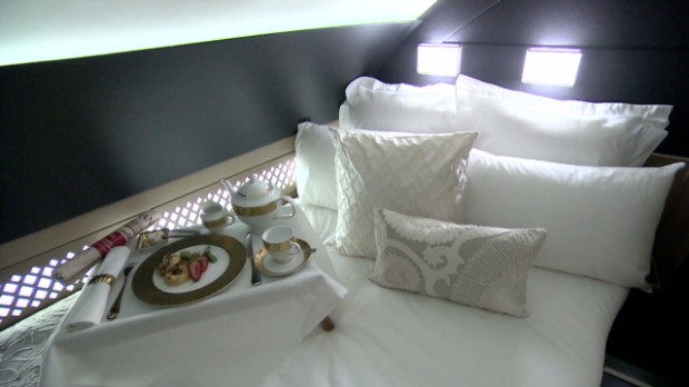 $21,000 plane ride in one-bedroom suite