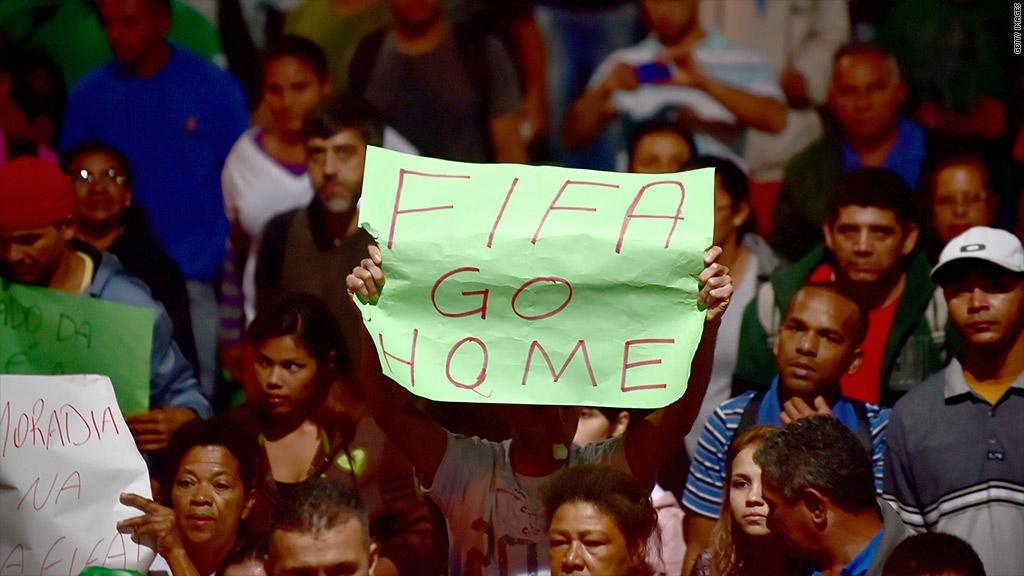 brazil fifa protest