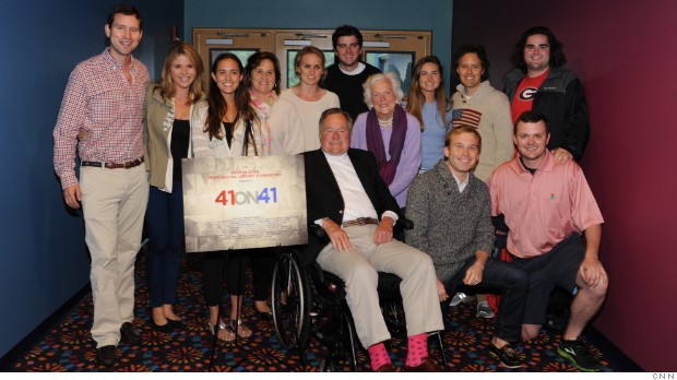 Bush 41 attends advanced screening of '41ON41'