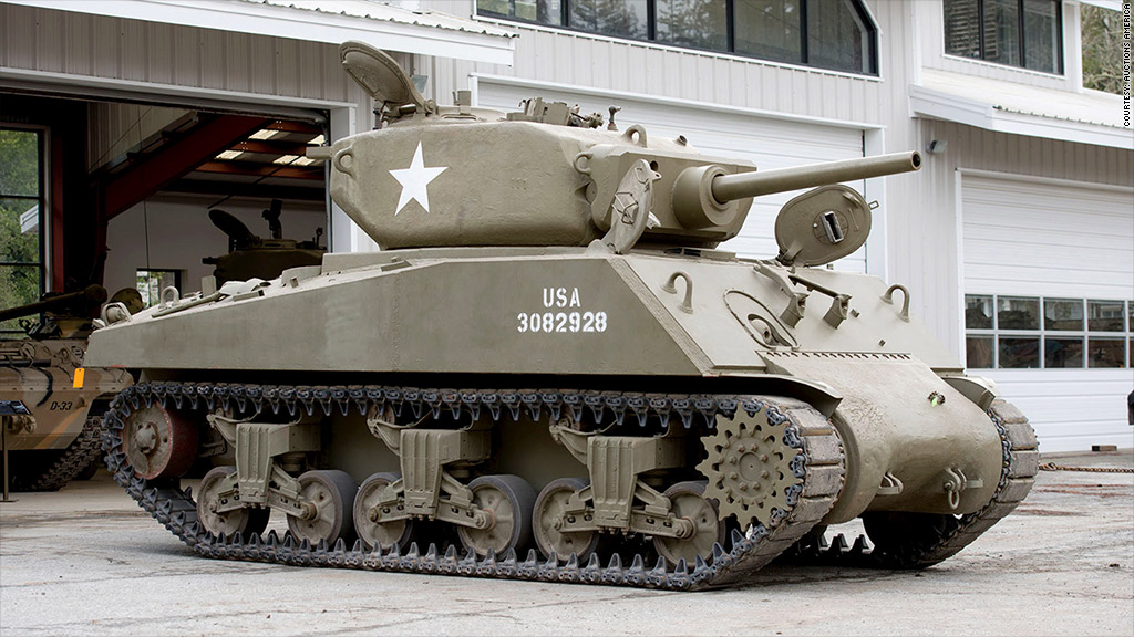 tank auction jumbo sherman
