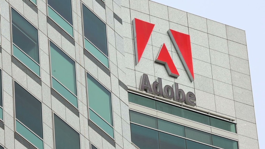 Adobe soars on 'cloud'-y outlook