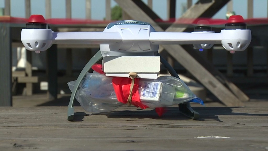 Drones deliver drugs within minutes