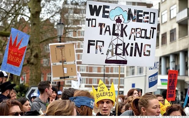 europe fracking protests