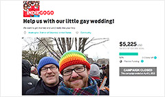 'We're crowdfunding our wedding'