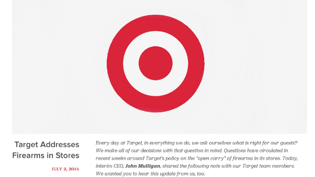 Target: No guns in our stores, please