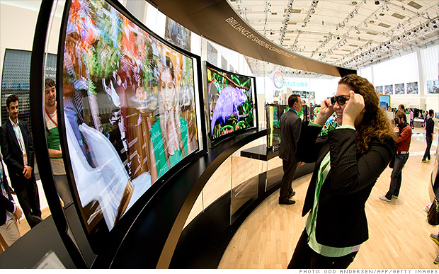 samsung weird oled tv