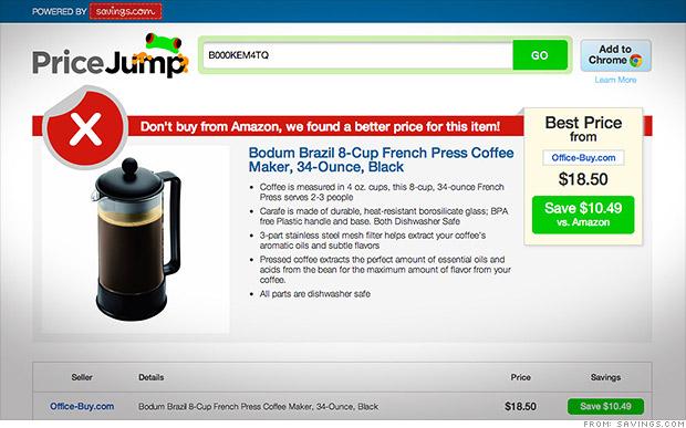 Amazon no es siempre la opción más barata…