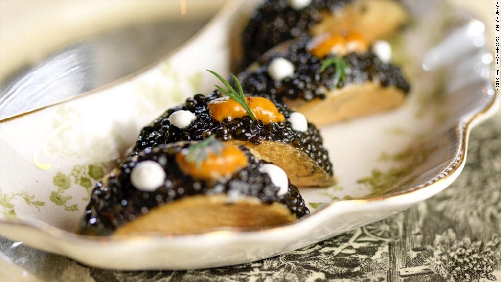 cosmo caviar tacos