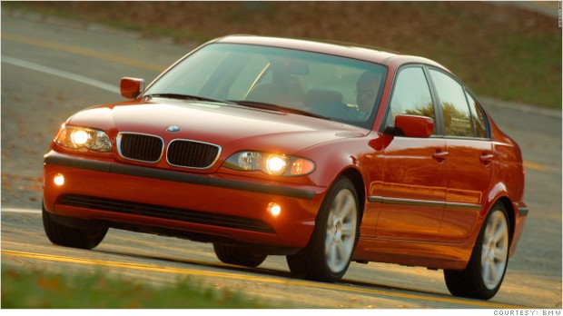 bmw 3 series airbags recall red