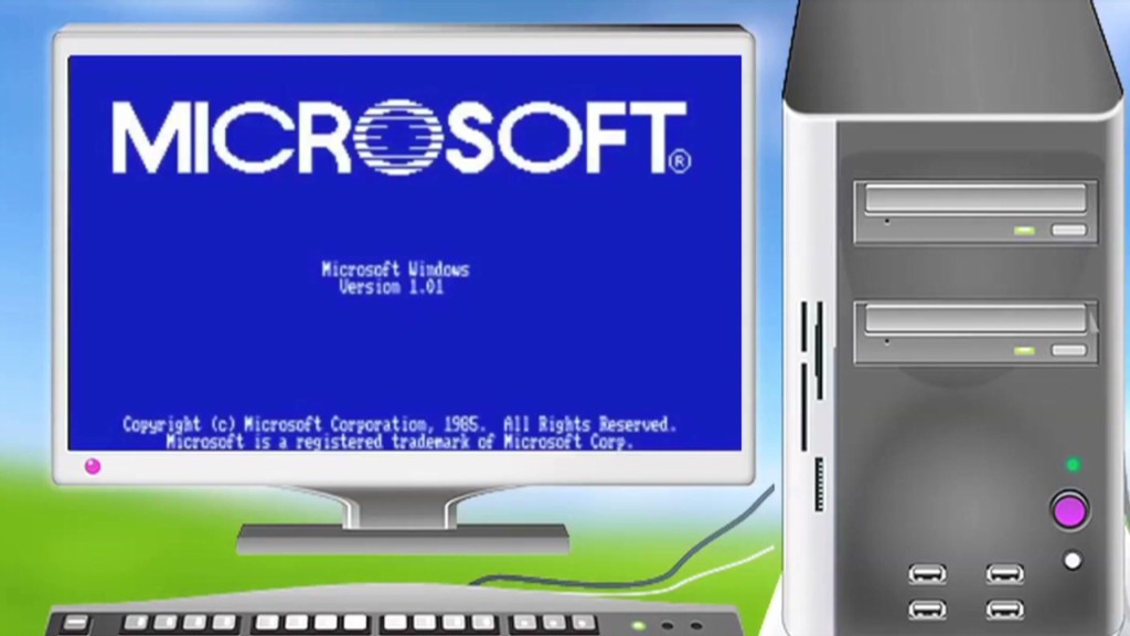28 years of Windows in 60 seconds