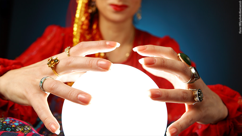 Psychics predict more stock market gains