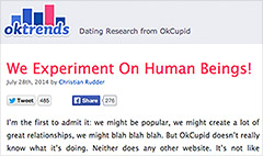 OkCupid set up bad dates as 'an experiment'