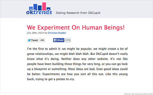 OkCupid set up bad dates in 'an experiment'