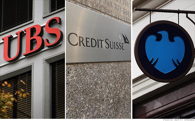 ubs credit suisse barclays