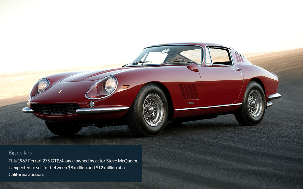 steve mcqueen ferrari auction