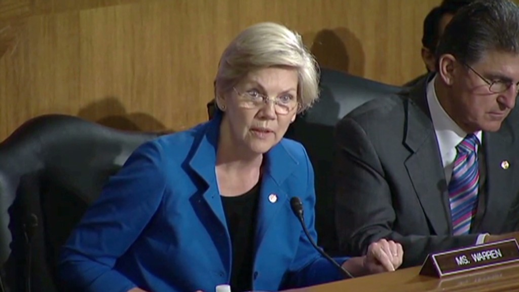Sen. Warren cites CNNMoney story in hearing