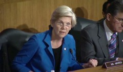 Watch Elizabeth Warren grill bank rep