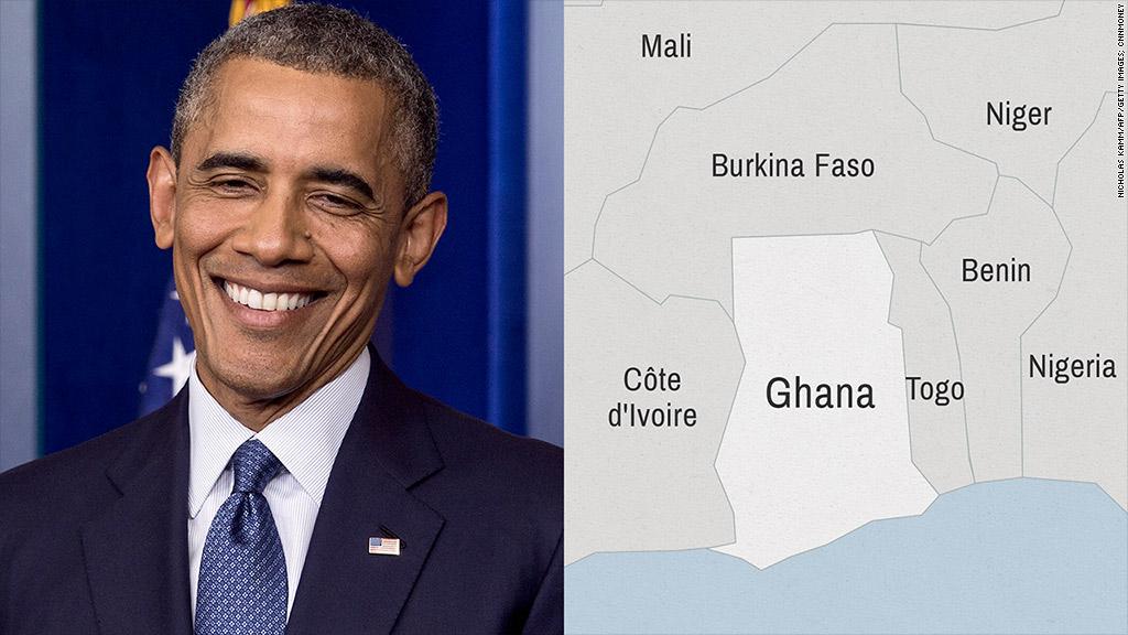 map obama ghana