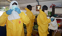 Ebola drug maker's stock surges