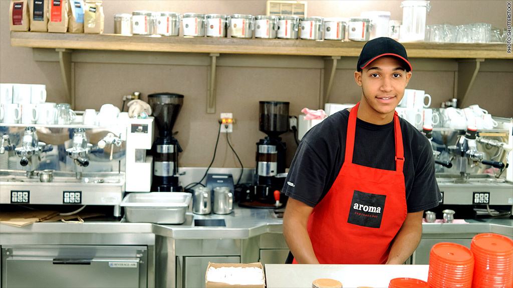 youth barista employee