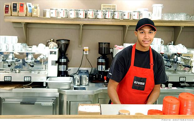 youth barista employee