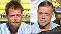 homeless haircuts striped