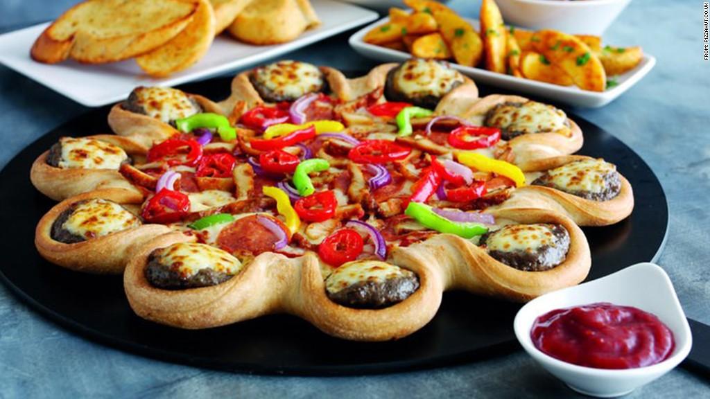 zany food cheeseburger pizza crust