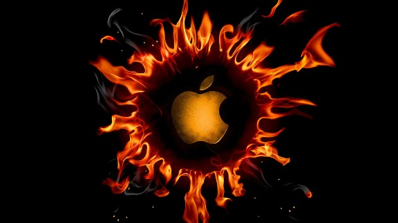 apple on fire 2