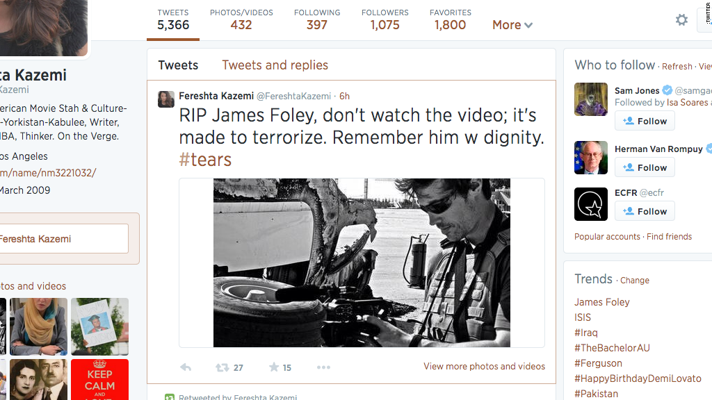 james foley tweet