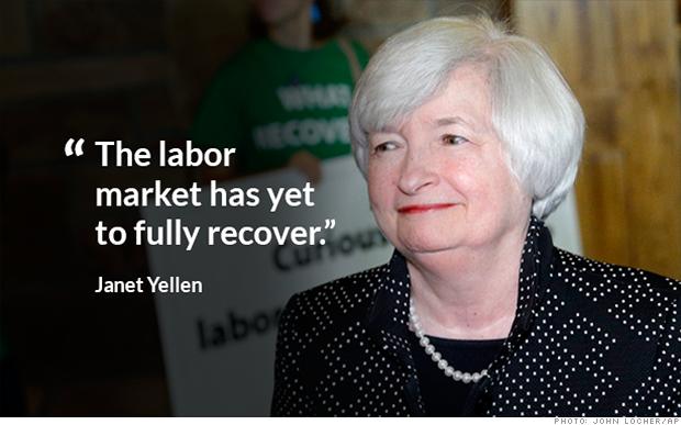 Janet Yellen: Job market not recovered