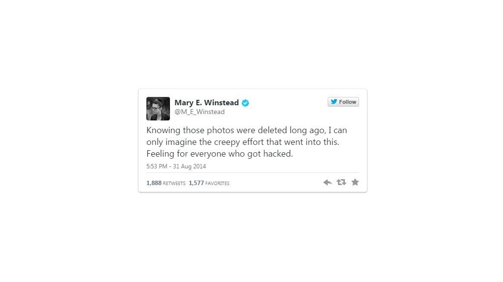 ME Winstead tweet