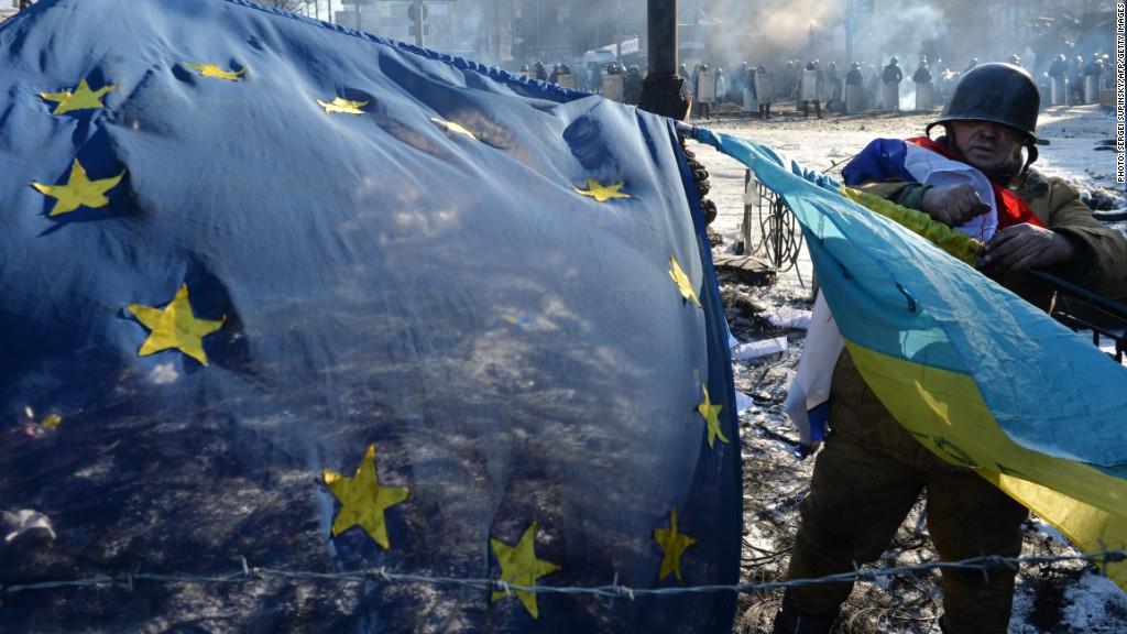 european flag ukraine