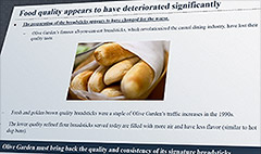 Olive Garden's problem? Cold breadsticks