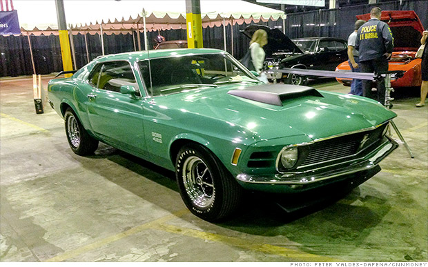 1970 ford mustang boss 429 criminal 39 s muscle car collection auctioned for 2 5 million cnnmoney. Black Bedroom Furniture Sets. Home Design Ideas