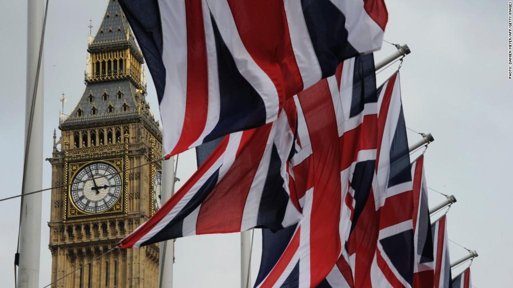 uk flags big ben