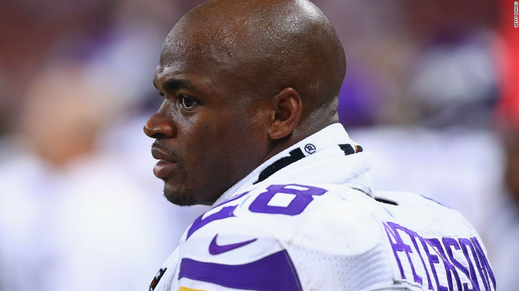 Vikings ban Adrian Peterson