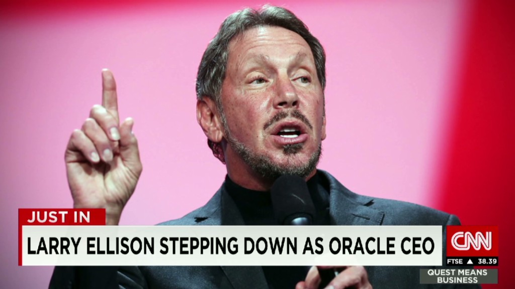 Oracle's Larry Ellison steps down as CEO