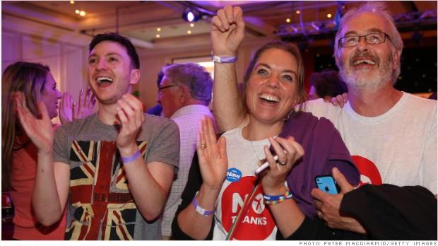 U.K. markets rally as Scotland votes to stay