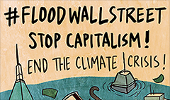 Climate protesters to 'flood' Wall Street on Monday